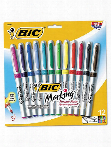 Marking Permanent Ultra Fine Marker Pack Of 8