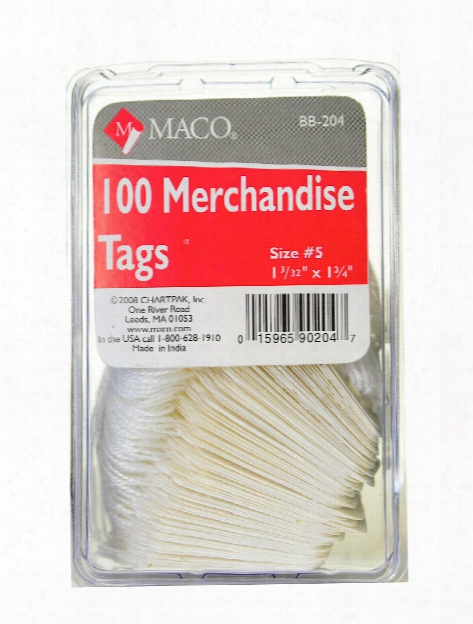 Merchandise Tags 1 11 16 In. X 2 3 4 In. Pack Of 50