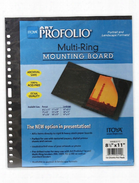 Multi-ring Mounting Boards 17 In. X 11 In. Horizontal Pack Of 10