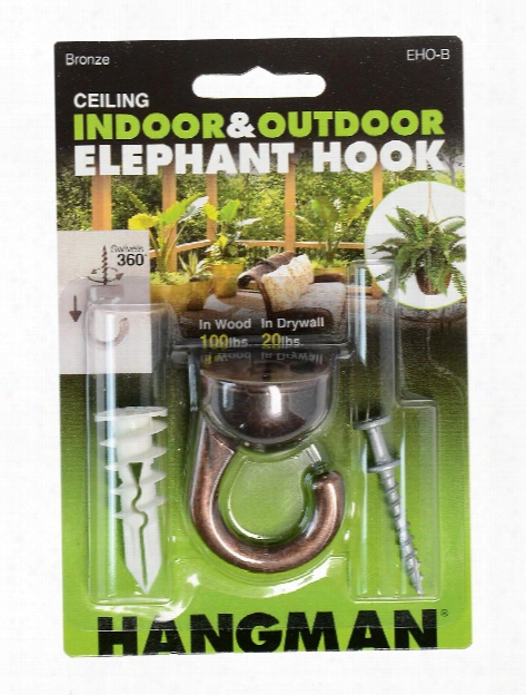 Outdoors Elephant Ceiling Hook Bronze