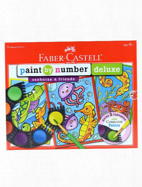 Paint By Number Deluxe Seahorse And Friends Each