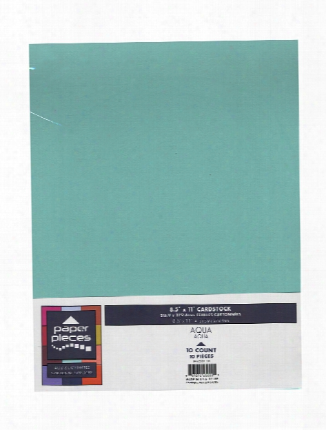 Paper Pieces Packaged Cardstock 8 1 2 In. X 11 In. Black Pack Of 10