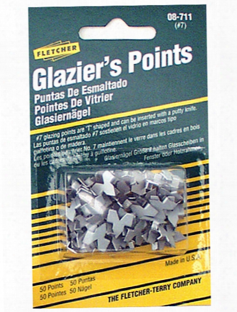 Push Mate And  Glazier's Points Glazier's Points Pack Of 50