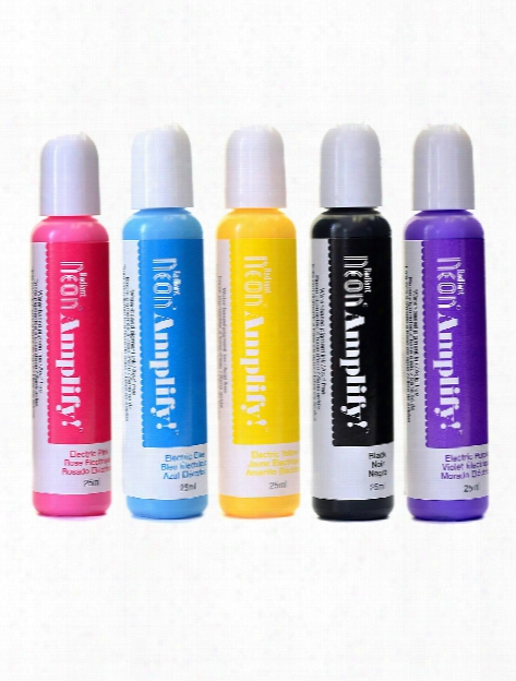 Radiant Neon Amplify Dimensional Ink 25 Ml Bottle Electric Yellow
