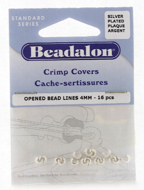 Silver Plated Crimp Covers 4 Mm Pack Of 16