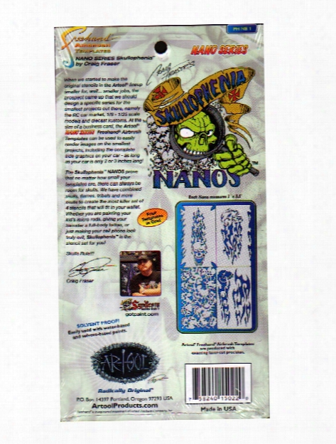 Skullophenia Nano Series Template Card Of 4 2 In. X 3 1 2 In. Set Of 4
