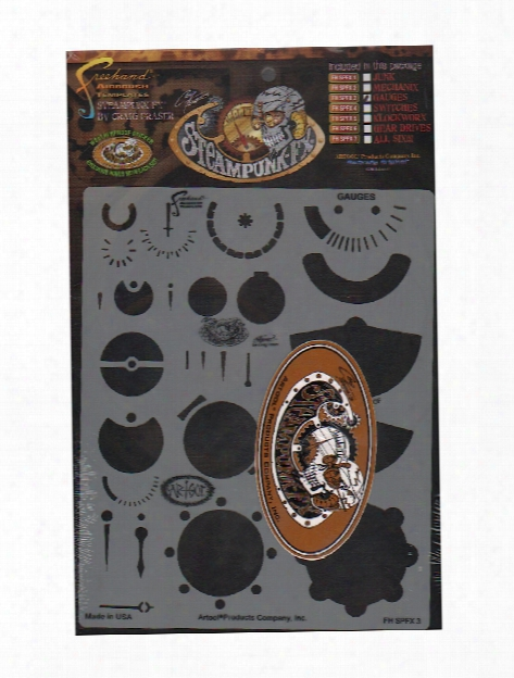 Steampunk Fx Freehand Airbrush Templates By Craig Fraser Mechanix 8 In. X 10 In. Each