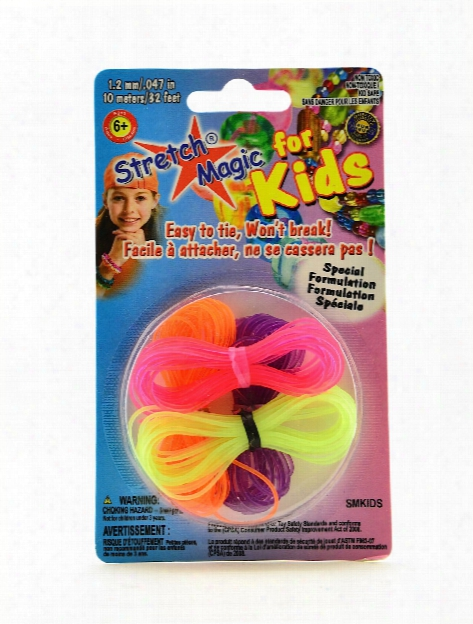 Stretch Magic For Kids 1.2 Mm X 10 M Pack Of 4 Neon Colors