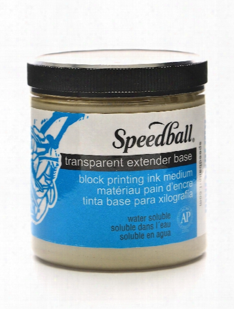 Transparent Extender Base Block Printing Medium 8 Oz.