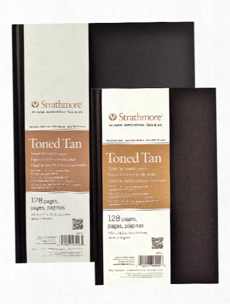 400 Series Toned Sketch Hardbound Pad Tan 5.5 In. X 8.5 In. 64 Pages