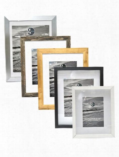 852 Smooth Arched Embossed Frame 8 In. X 10 In. Pewter 5 In. X 7 In. Opening