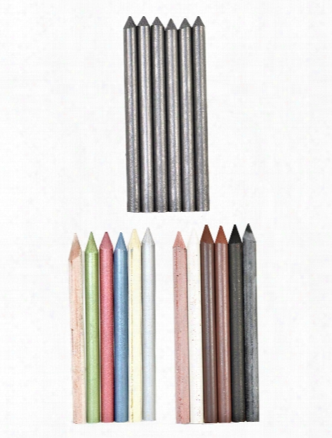 Artists Leaads 5.6mm X 80mm Graphite Black 4b Pack Of 6
