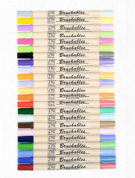Brushables Twin Tip Markers Pure Black