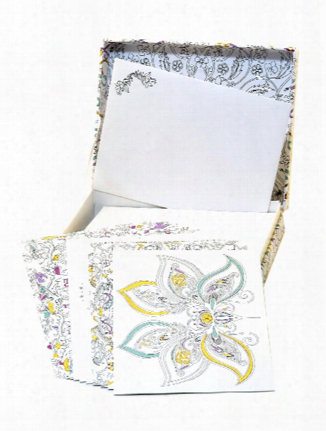 Coloring Note Cards Meditative Designs