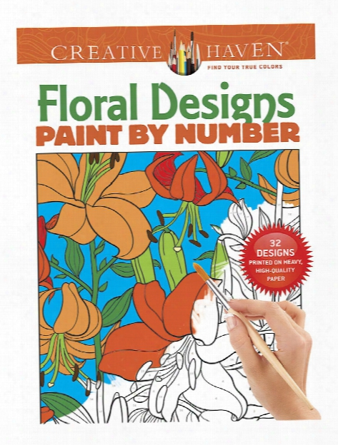 Creative Haven Paint By Number Floral Designs