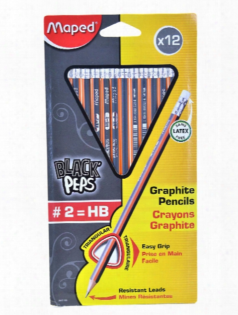 Graphite #2 Triangular Pre-sharpened Pencil Card Of 12