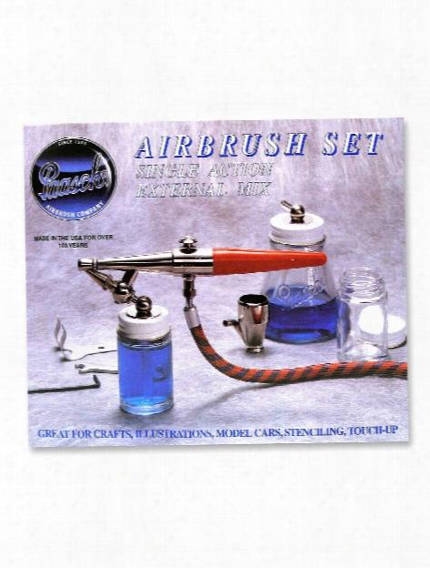 Model H (hobby) Airbrush Set H-set Single Action Airbrush Set