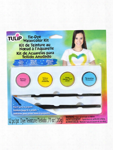 One-step Watercolor Dye Kits Bright Fuschia, Yellow, Lime, Turquoise Set Of 4