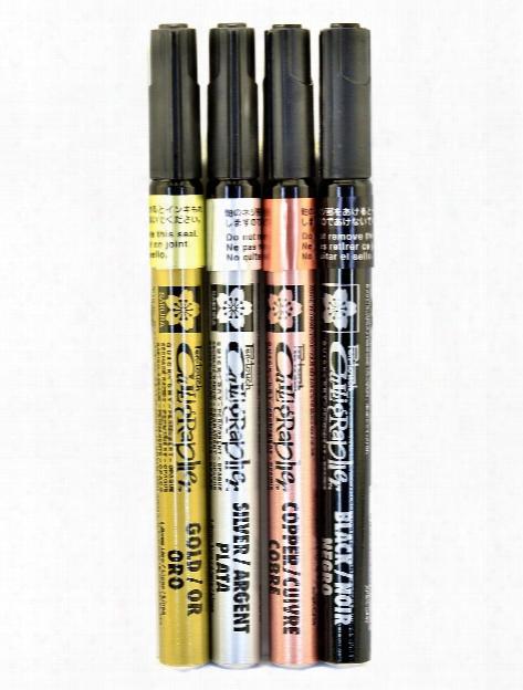 Pentouch Calligrapher Pens Ifne Set Of 4