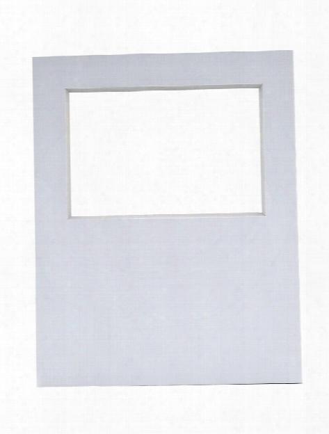 Photo Mat Art Board 11 In. X 14 In., 4 In. X 6 In. Opening White Each