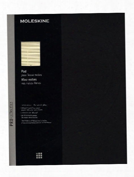 Pro Collection Pad Black 8 1 2 In. X 11 In. 96 Pages, Ruled