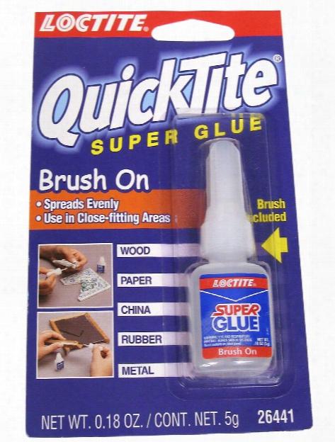 Quicktite Super Glue Brush-on 0.18 Oz.