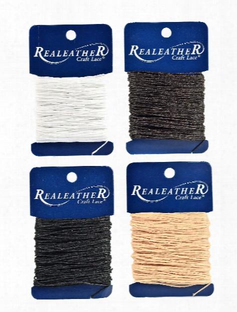 Realeather Waxed Thread 25 Yd. Roll Black