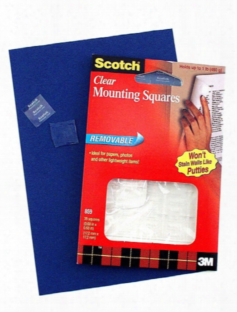 Removable Mounting Squares 1 1 16 In. X 1 1 16 In. Pack Of 35