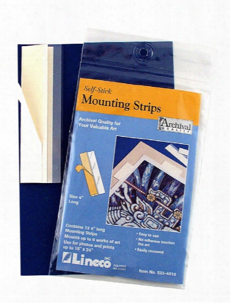 Self-stick Mounting Strips 4 In. Pack Of 60