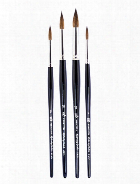 Series 7050 Short Handled Kolinsky Sable Brushes Size 3 0 Round