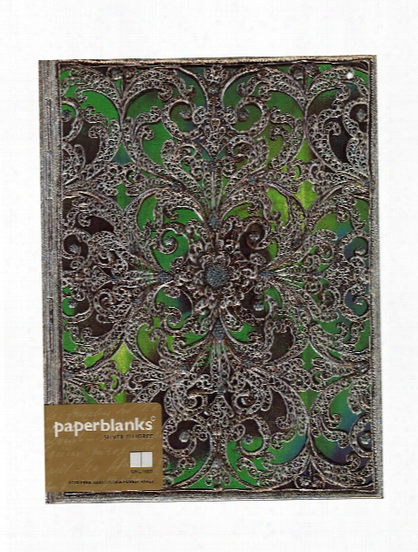 Silver Filigree Journals Shadow Mini Reporter, 3 3 4 In. X 5 1 2 In. 192 Pages, Lined