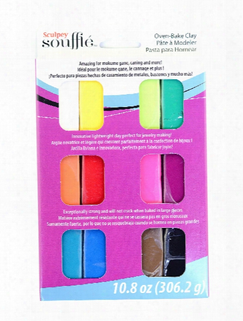 Souffle Oven-bake Clay Multipack Set Of 12