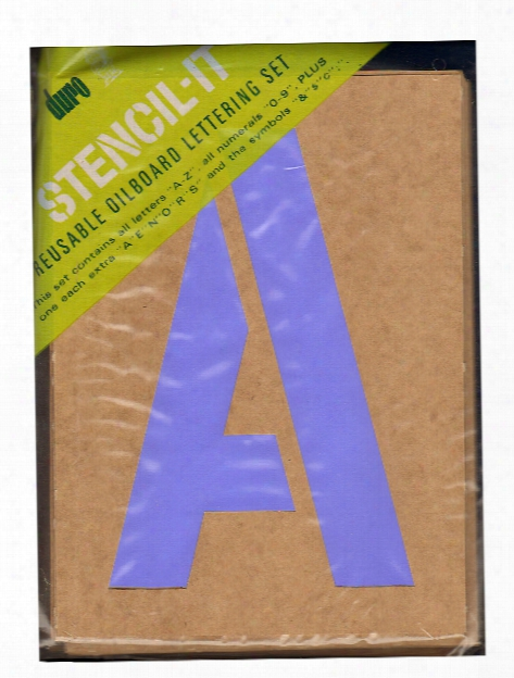 Stencil-it Reusable Oilboard Lettering Sets 8 In. 5 In.