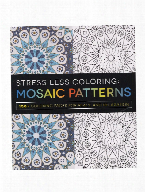 Stress Less Coloring Book Flower Patterns