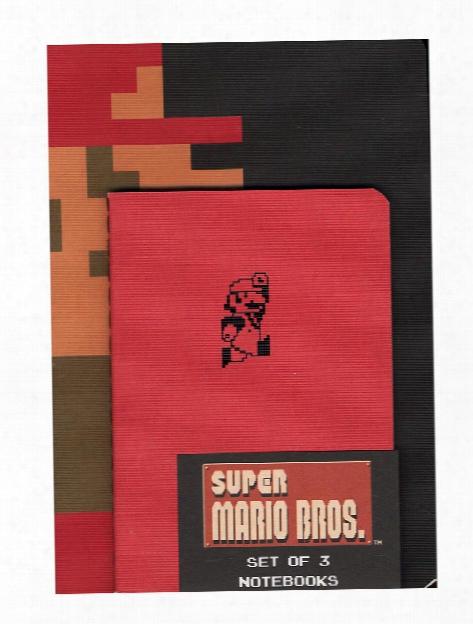 Super Mario Bros. Notebooks (set Of 3) Each
