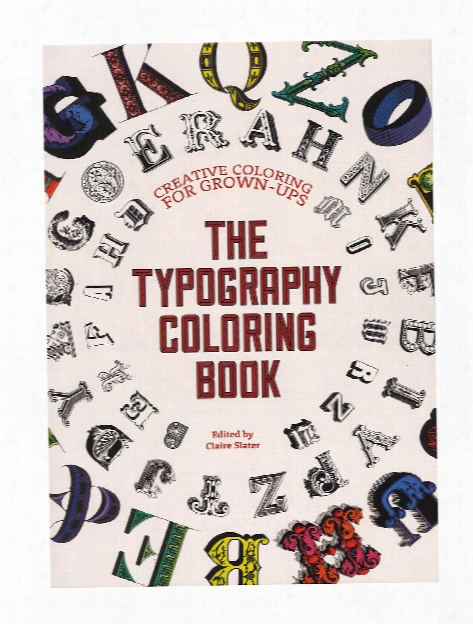 The Typography Coloring Book Each