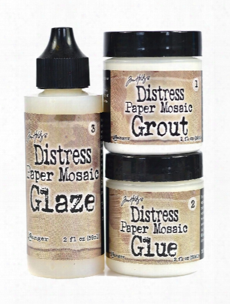 Tim Holtz Distress Paper Mosaic Kit Each