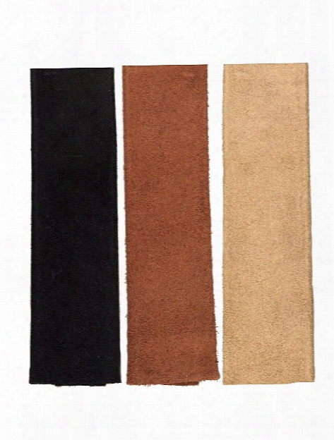 Trim Pieces Suede8  1 2 In. X 11 In. Black