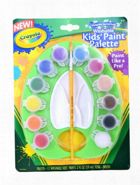 Washable Kid's Paint Pot Palette Set Of 12