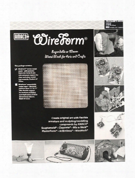 Wireform Metal Mesh Aluminum Woven Contour Mesh - 1 16 In. Pattern Mini-pack