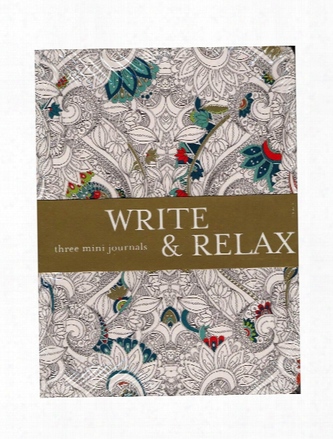 Write & Relax Series Mini Journal 3-set 4 1 4 In. X 5 3 4 In.