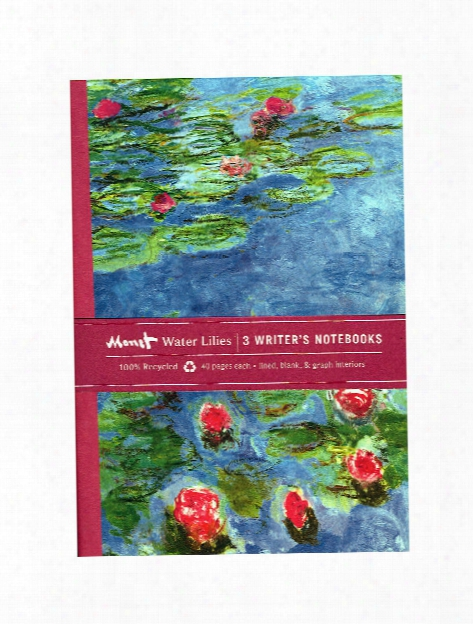 Writer's Notebooks Van Gogh Floral 40 Pages Set Of 3