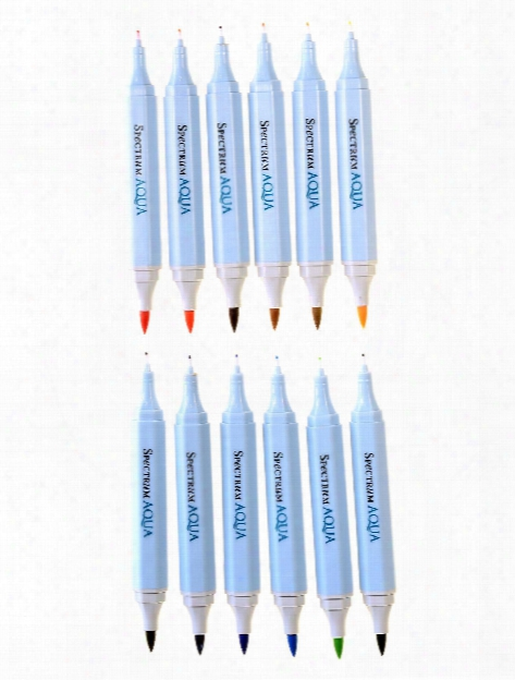 Aqua Artist Markers Floral Pack Of 12
