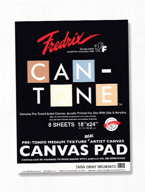 Can-tone Canvas Pads Tara Gray 9 In. X 12 In.