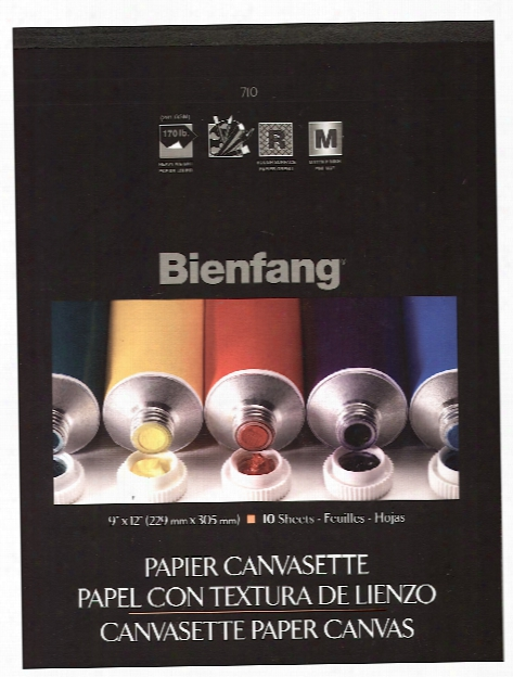 Canvasette Paper Canvas 18 In. X 24 In. Pad Of 10 Sheets