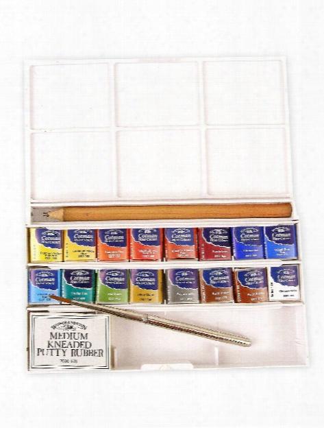Cotman Water Colour Deluxe Sketchers' Pocket Box Set Of 12