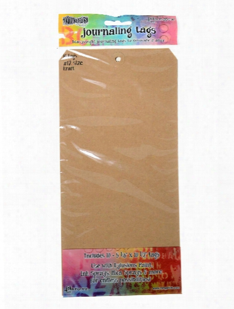 Dylusions Journaling Tags Natural #10 4 1 8 In. X 8 1 2 In. Pack Of 10