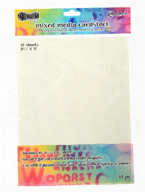 Dylusions Mixed Media Cardstock 8 1 2 In. X 11 In. Pack Of 10 Sheets