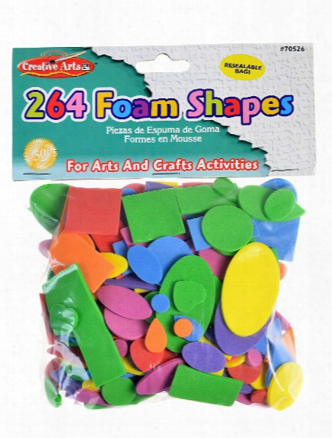 Foam Sheets Shapes Assorted 264 Pieces