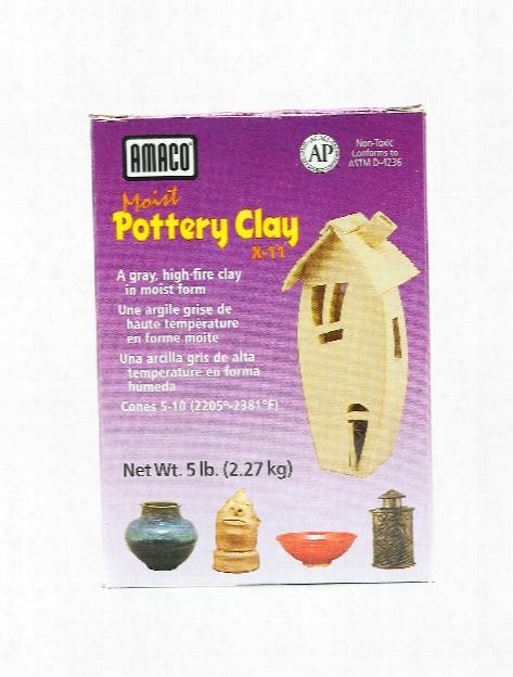 Moist Pottery Clay 5 Lb. X-11